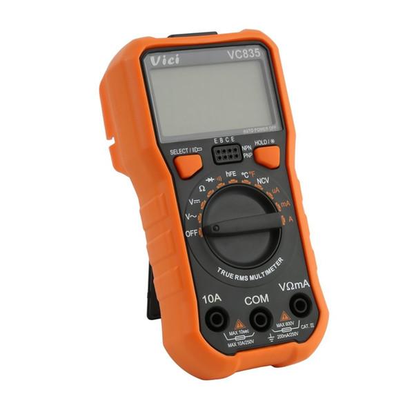 Multimetro digitale Vici DC / AC Misuratore di corrente Tester Amperometro portatile Ohm Diodo Tester di capacità 2000 Conteggi Multitester