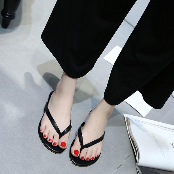58 kadın kelime kadın yaz büyük boy dış ticaret plaj ayakkabı giymek