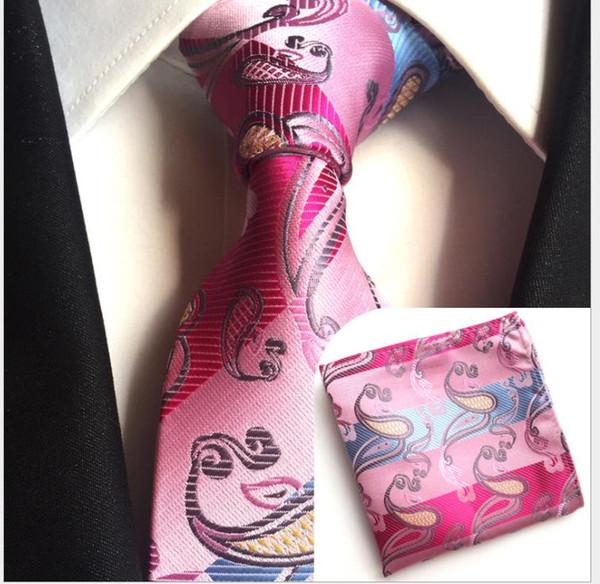 Paisley waist 8 cm men's tie pocket towel suit
