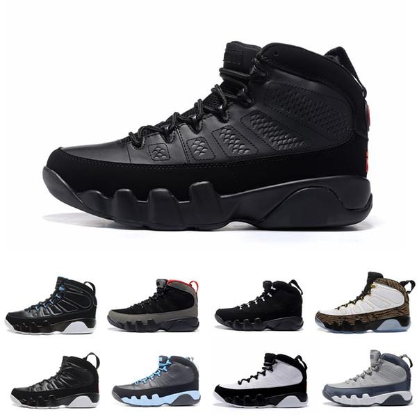 9 Dream It Do It Zapatos de baloncesto UNC Bred Space Jam Hombre 9s Piel de serpiente negra El espíritu Zapatillas de deporte antracitas