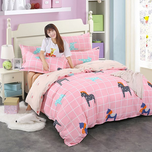 24 Duvet Cover Bedding Set Girl Adult Kids Child Bed Linen Single Twin Full Double Queen King Size Quilt Comforter Case Toddler Bedding Crib Bedding