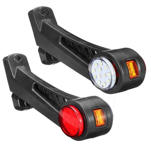 12-24V 24 LED Outline Marker Light Side Stalk Lampada per Camion Van Lorry Truck
