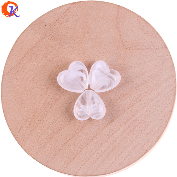 wholesale 370Pcs/Lot 17*18mm Acrylic Beads/Heart Shape/Could Effect Beads/Hand Made/Earring Findings/Jewelry Accessories