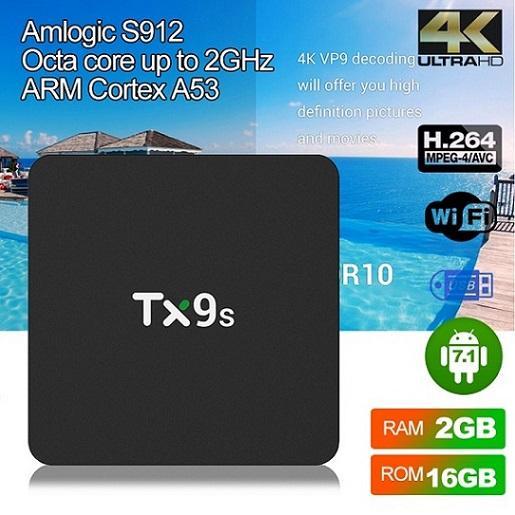 Tx9s коробка Amlogic S912 2 ГБ/16 ГБ Android-ТВ коробка 7.1 ОТТ ТВ коробка 2.4 г смарт-WiFi 2.4 г беспроводной ПК TX3 Н96был