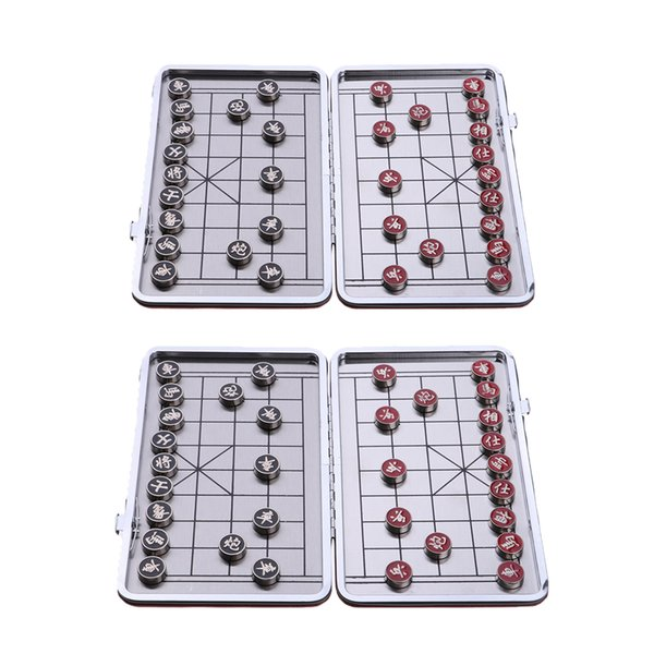 best selling 2 Pieces Metal Portable XinagQi Chess Travel Board Game Funny 1.2cm