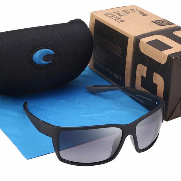 REEFTON DESIGN Nouvelle lunettes de soleil polarisées Hommes En Plein Air Carré Lunettes De Soleil Pour Hommes Vintage Lunettes De Pêche Sport Lunettes UV400 Gafas Paquets