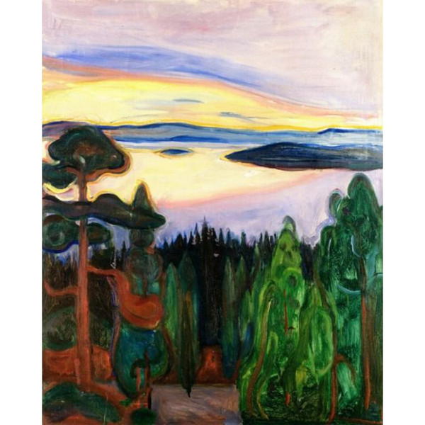 Canvas art abstract oil paintings by Edvard Munch View from Nordstrand for wall decor hand painted