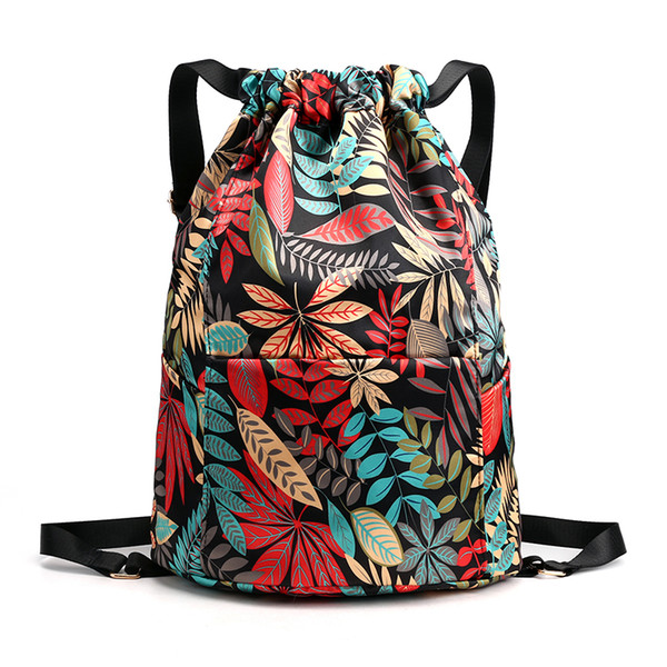 Flower Backpacks Women Shopping Backpack For Young Lady Mochila Feminina Mujer Bagpack Travel Bag Dry Wet Separation Design