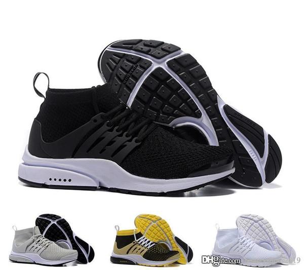 nike air Presto High Uppers Acronym Air White Black blue yellow Hot Lava zapatos para hombres / mujeres zapatos tamaño 36-45 M197