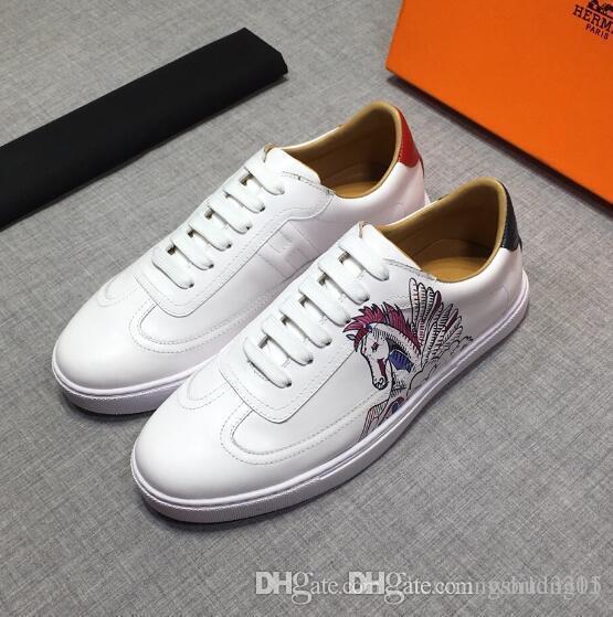 Beyaz Kadın Deri Ayakkabı Erkek Ve Kadın Ayakkabı Siyah Altın Kırmızı Moda Rahat Düz ayakkabı Boyut 35-46 0431