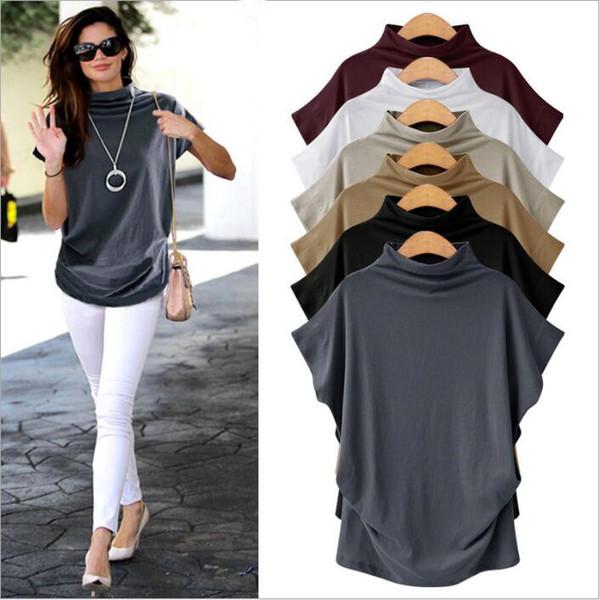 Shirts femmes Vêtements grande taille en vrac T-shirt décontracté solide shirt à manches courtes Chemisier Tops Mode Vestidos Costume Vêtements pour femmes S-6XL C4764