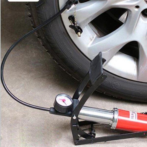 Premium Mini Bike Bicycle Pump Tyre Pedal Inflator with Air Pressure Gauge