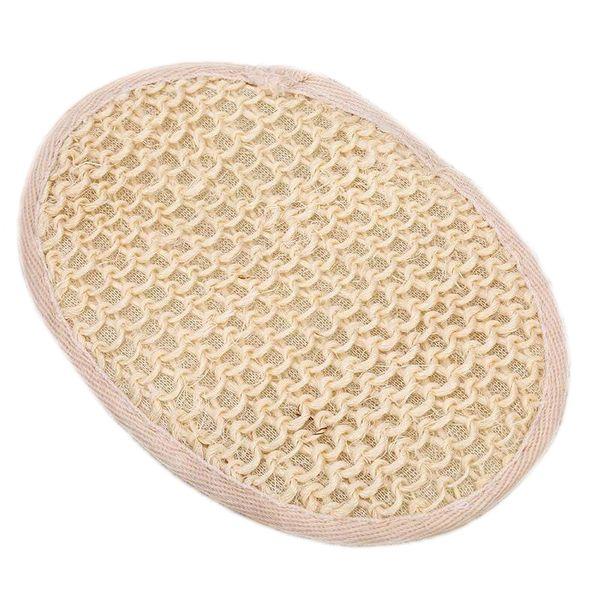 top popular Natural Sisal Fiber Pad Back Pad Shower Sponge Exfoliating Bath Natural Sisal Fiber with Terry Cloth 2019