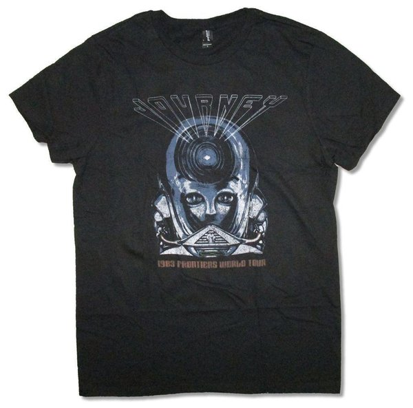 Journey Frontiers World Tour 1983 Black T Shirt New Official Mens 2018 fashion Brand T Shirt O-Neck