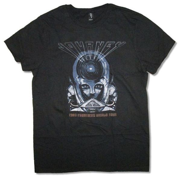 Journey Frontiers World Tour 1983 Черная футболка Новые официальные мужские футболки 2018 модной футболки с круглым вырезом