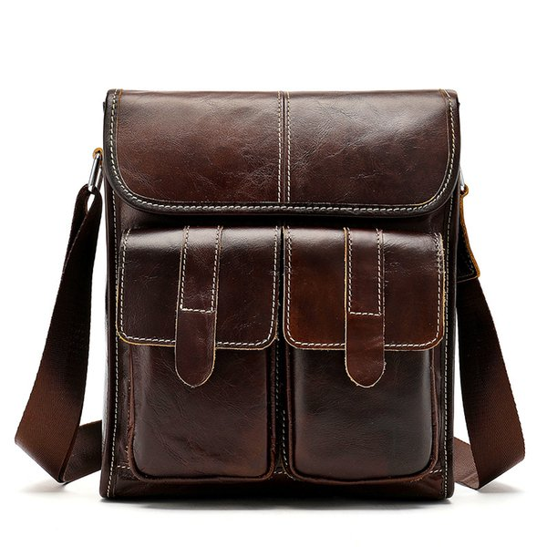 Genuine Leather Messenger Bag Men Shoulder Bag Casual Male Briefcases Laptop Computer Leather Bags for Documents