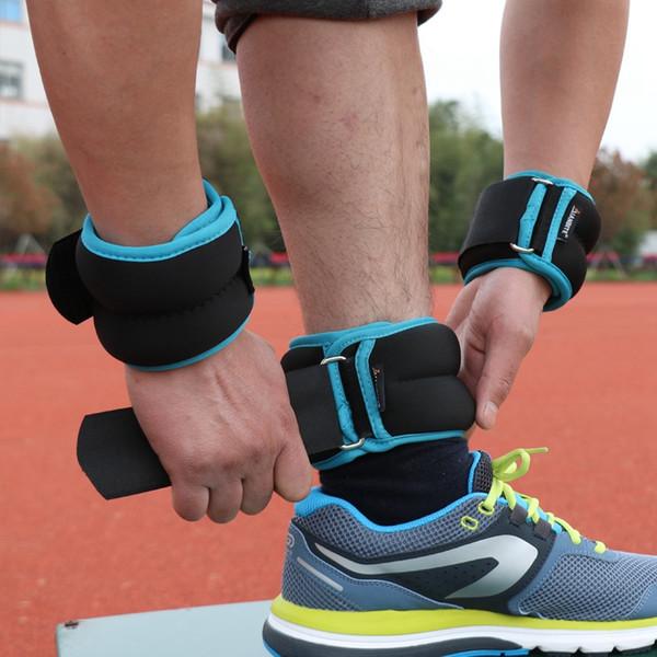 1kg/pair Neoprene Adjustable Ankle Wrist Iron Sand Bag Weights Straps Strength For Training Exercise GYM Running SandBag #70366