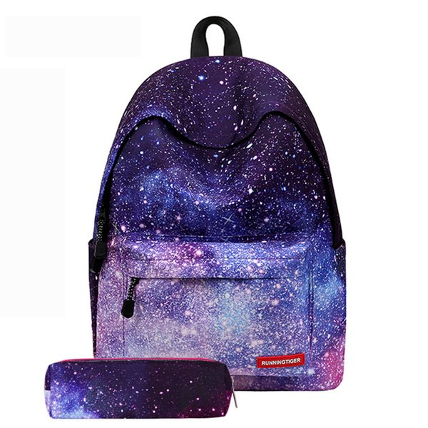 Multicolor Backpack Stylish Galaxy Bookbags Star Universe Space School Bags For Teenager Women Rucksack 2019 Laptop New