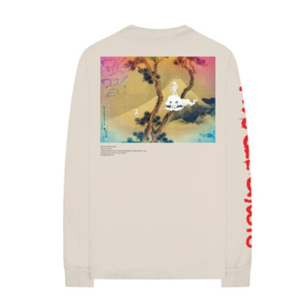 2018 Summer New High Street Tops KIDS SEE GHOST Chinese Landscape Painting Tees Crew Neck Long Sleeves T shirts Kanye West Tops