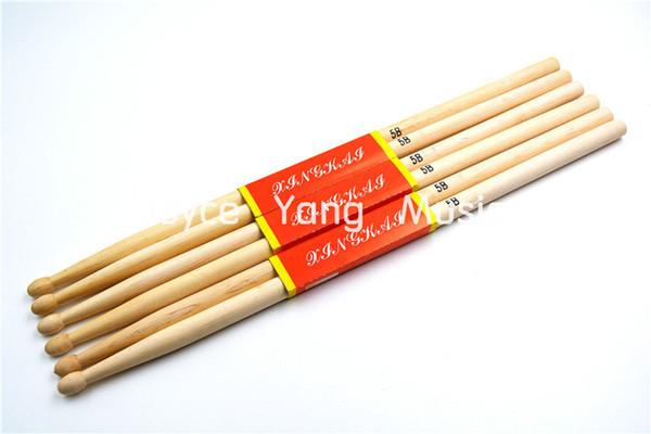 top popular Niko 3 Pairs of Maple Wood Round Tip Drum Sticks 5B Drumsticks Free Shipping Wholesales 2021
