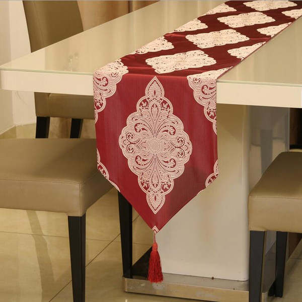 Embroidered 32*210cm Red