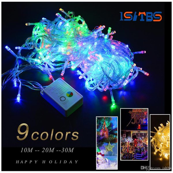110V 220V 10M 20M 30M RGB holiday light LED String Light EU plug Christmas Wedding Party Decor Lights outdoor led lamp Waterproof
