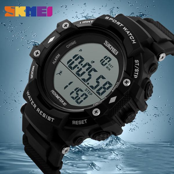 a1babccba70 SKMEI Mens Relógios Desportivos Ao Ar Livre LED Digital Relógios De Pulso  Chrono Alarme À Prova