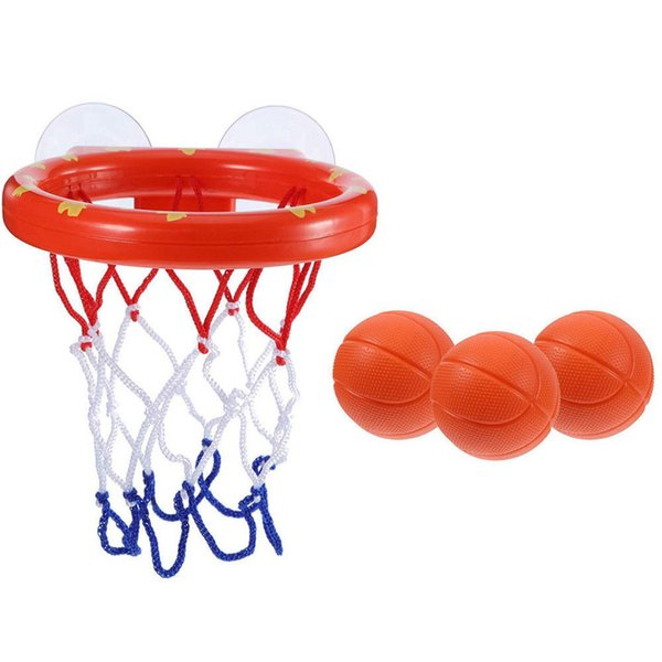1 Set Bath Toy Mini Basketball Hoop Suction Cup For Baby Kids Toddlers Bath Gift Party Decoration