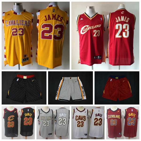 new products b0550 bb280 2019 2020 Men Retro Cavaliers 23# LeBron James Swingman Jersey Authentic  Embroidery Cleveland LeBron James Cavaliers Basketball Jersey Shorts From  ...