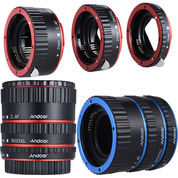 top popular Lens Adapter Mount Metal Auto Focus AF Macro Extension Tube Ring for Canon EOS EF EF-S SLR Camera Lenses 60D 7D 5D 550D 2021