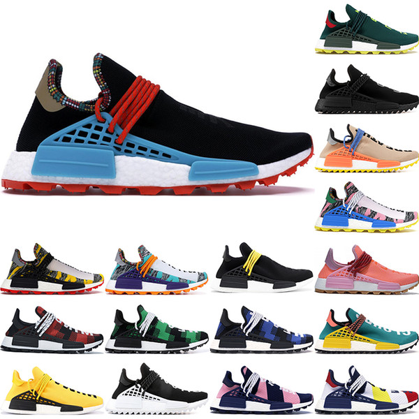 Best Mens Running Shoes 2020.2019 2020 Human Race Bbc Multi Color Pharrell Oreo Nobel Ink Mens Running Shoes Best Quality Pharrell Williams Womens Designer Shoes 36 47 From
