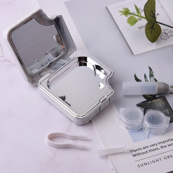 Steinmuster Kunststoffbox Glatt Kurzsichtige Pflegebox Kontakt Kleine Spiegelklammer Box Linsen Sonnenbrillenetuis