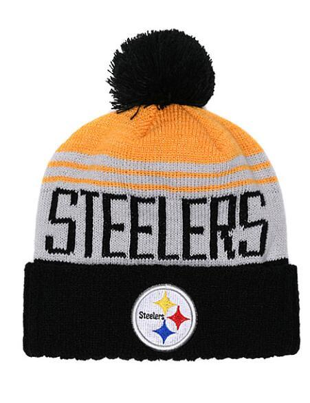 Cheap Men Women Winter Out Door Beanies Fashion Fans Brand Hip Hop Steelers Skull Beanie Hats Pom Cuffed Knit Cap