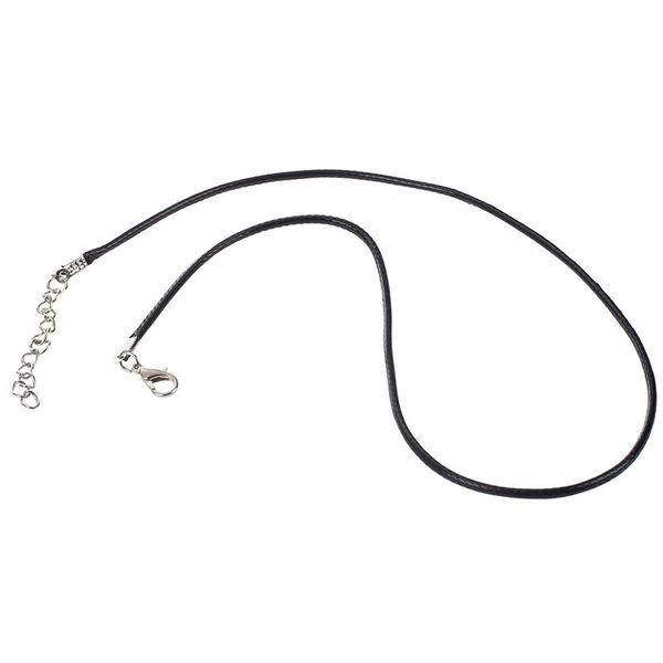 30 X Collar de cordón de algodón de cera cadena de collar colgante 2mm + cierre