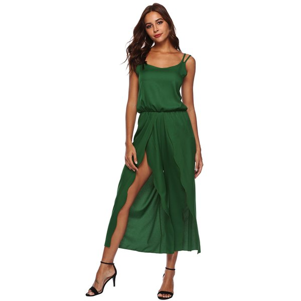3218e4af507 feitong Women Ladies Sleeveless Backless Loose Long Playsuits Rompers Suit  Sexy Matching Sets elegant Jumpsuit