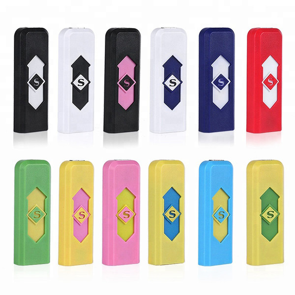 Factory Wholesale Rechargeable Electronic Flameless Cigarette USB Lighter Heating coil Ocitytimes electric plastic Smoking lighters K5059