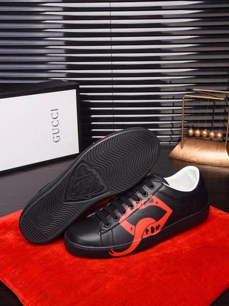2019ii yeni en kaliteli high-end lüks high-end erkek rahat ayakkabılar deri erkek ofis gelinlik ayakkabı boyutu 38-45