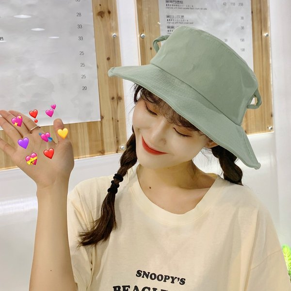 Korean version of chic New Fashion Cute Pointed Ears Fisherman Hat Female Trend Student Hat Summer Outdoor Visor UV Protection