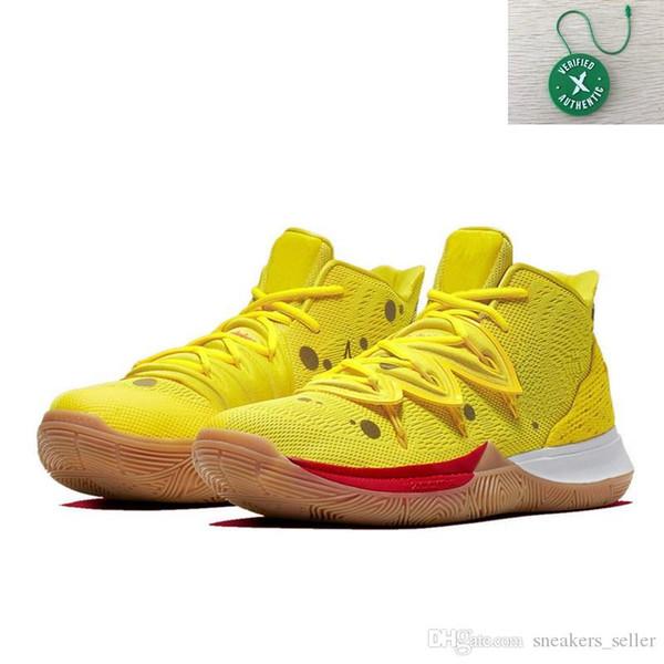 Großhandel SpongeBobs Kyrie 5 Kinder Männer Frauen Basketball Schuhe Verkäufe Beste Qualität Irving 5 Turnschuhe Schuhe Mit Box Größe 4 12 Von