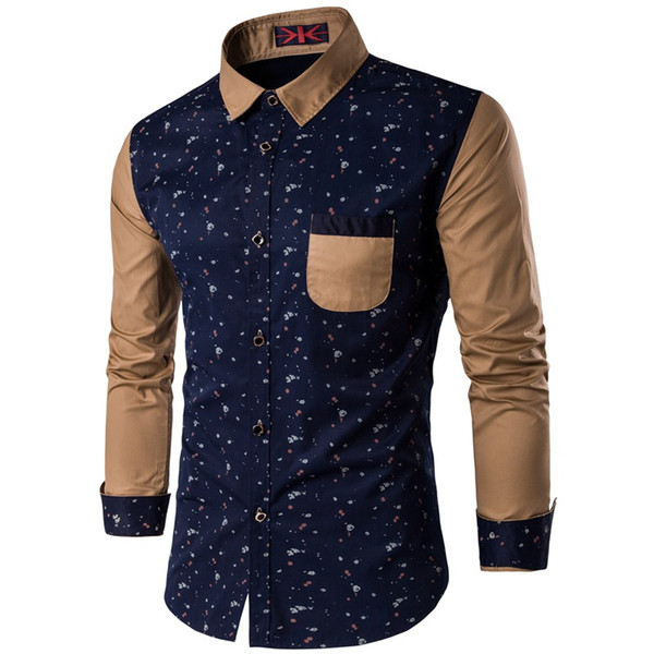 Polka Dot Shirt Men 2017 Spring New Long Sleeve Mens Dress Shirts Casual Slim Fit Chemise Homme Camisa Hombre Plus Size 5XL
