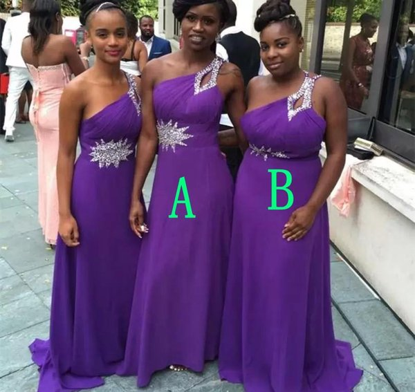 26f92749e3dd1 South African Black Girls Bridesmaid Dress Summer Country Garden Formal  Wedding Party Guest Maid Of Honor Gown Plus Size Custom Made Chiffon ...