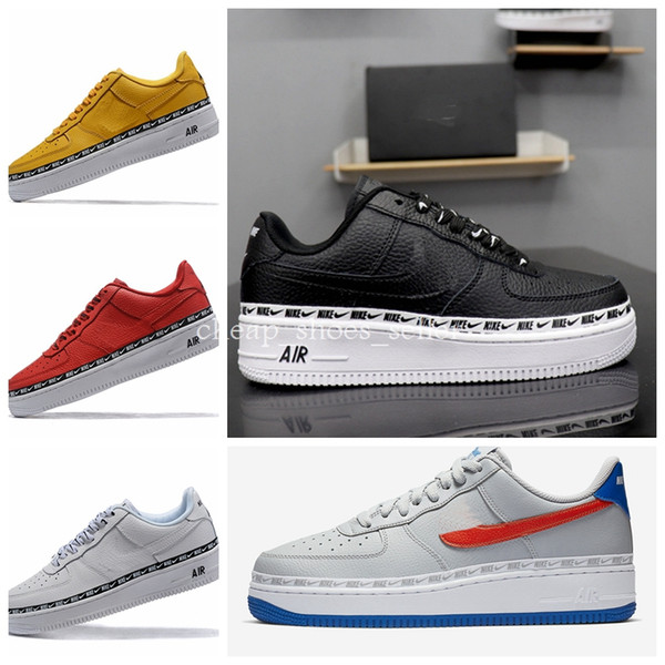 2019 New Forces Premium Skateboard Shoes Sports White Black for Mens Women Designer Sneakers Air Chaussures 1 One Skate Athletic Men Shoe