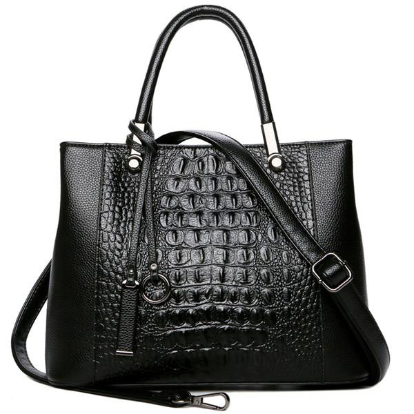 New Fashion Luxury Crocodile Pattern Borse da donna in vera pelle Borsa da donna in vera pelle Borsa da lavoro per computer