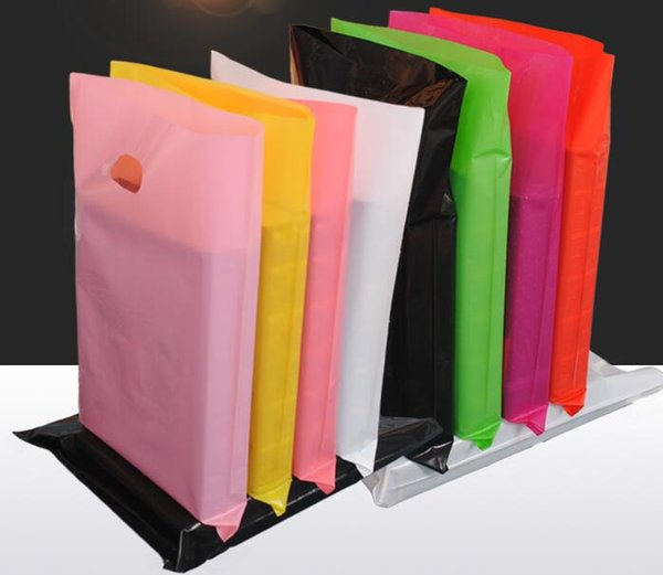 Accept Customize the logo colorful Plastic Gift Bag Boutique Carrier Shopping Bags Jewelry Packaging Bags With Handle 50pcs/lot