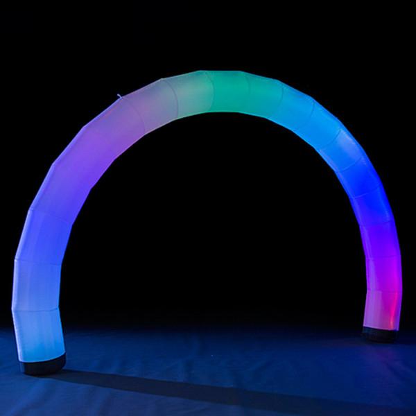 LED de iluminação inflável arco cor mudando LED iluminado airgate inflável air blow up modelo de tubo colorido arco de balão