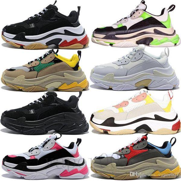 2019 triple S old dad shoes tripler sneakers green clear sole chaussures retro scarpe mujeres zapatos hombres hommes hombre zapatillas entrenadores