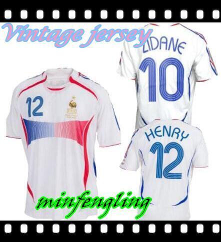 2006 Retro Soccer Jersey ZIDANE Henry Trezeguet Vieira Ribery 06 copa del mundo Francia Vintage camisetas de fútbol Maillot de Foot calidad superior