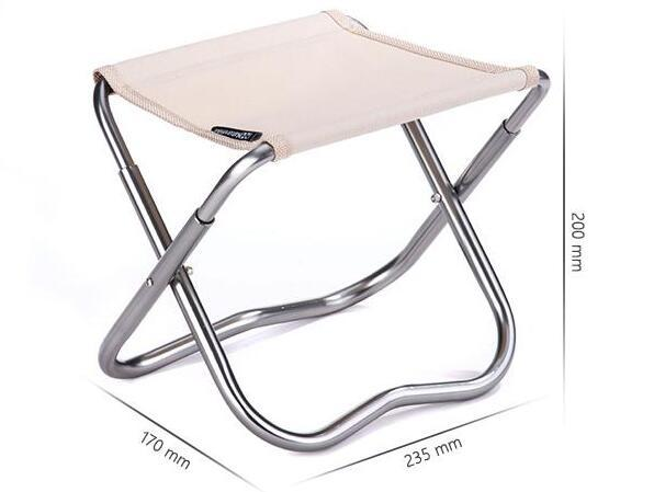 -2 Colors Naturehike Outdoor Portable Oxford Aluminum Folding Step Stool Camping Fishing Chair Camping Equipment 243g