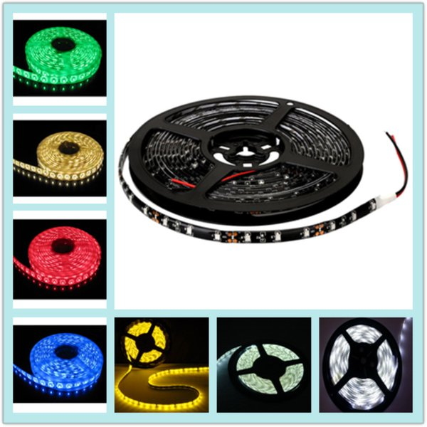 5M Roll SMD 3528 Waterproof 60LEDs/M 300 LEDs Warm Cool White Red Green Blue Yellow RGB Flexible LED Strip Light ip65 strip