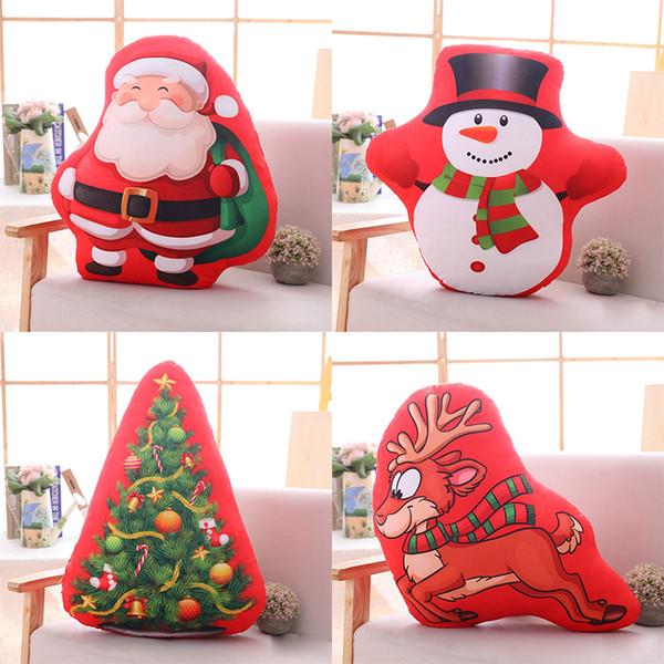 Árbol de navidad Papá Noel ciervos muñeco de nieve juguetes de peluche regalo creativo decoración almohada encantadora regalos de navidad niños juguetes